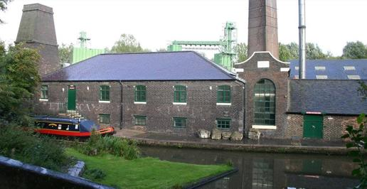 Etruria Industrial Museum shpwing the canal and lock outside the museum