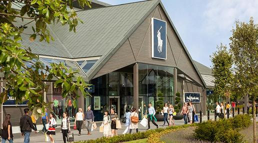 An example of  the Ralph Lauren and Polo store at Cheshire Oaks, just one of many stylish designer outlets at Cheshire Oaks.